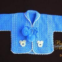 Комплект для малыша — работа Валентины Литвиновой