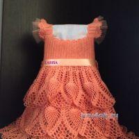 Ажурное платье для девочки — работа Ларисы Величко
