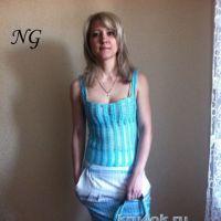 Вязаный топ — работа Натальи Гуляк
