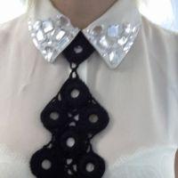 Вязаный крючком галстук — работа Ольги