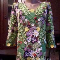 Блуза в технике ирландского кружева — работа Елены Павленко
