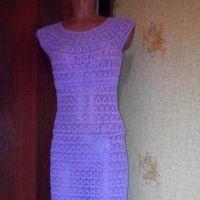 Вязаное крючком ажурное платье — работа Нины
