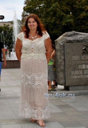 Вязаная крючком юбка - работа Ирины