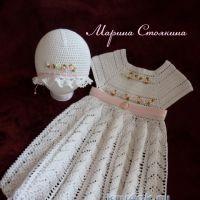 Платье и шапочка для девочки — работа Марины Стоякиной