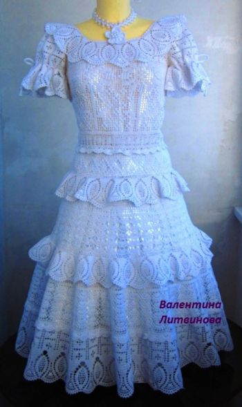Детское платье Праздничное, вязание крючком