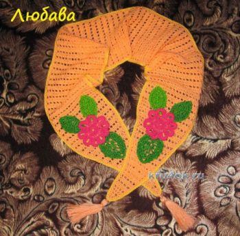 Детский ажурный шарф крючком - работа Любавы