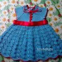 Ажурное платье для девочки — работа Анны Назаренко