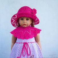 Платье — трансформер и шляпка для девочки