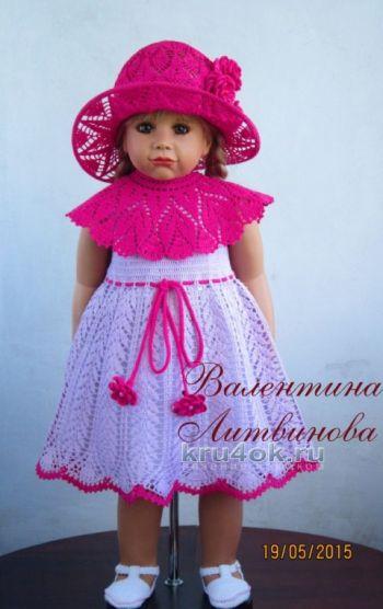 Платье – трансформер и шляпка для девочки. Вязание крючком.