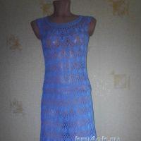 Женское платье крючком - работа Нины
