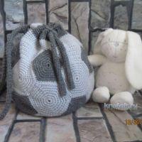 Вязаный крючком рюкзак — работа Ирины