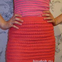Вязаная юбка с рюшами — работа Людмилы