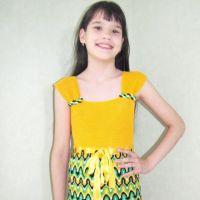 Платье для девочки Солнечное лето — работа Арины