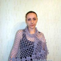 Шаль крючком – работа Евгении Руденко