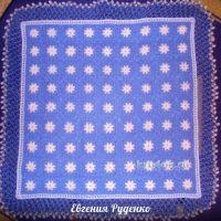 Плед крючком — работа Евгении Руденко