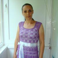 Ажурное платье крючком — работа Евгении Руденко