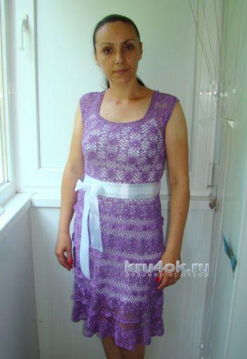 Ажурное платье крючком - работа Евгении Руденко