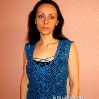 Летняя безрукавка крючком — работа Евгении Руденко