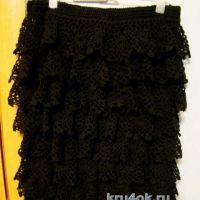 Вязаная крючком юбка — работа Евгении Руденко