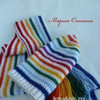 Шапочка и шарф для девочки — работы Марины Стоякиной