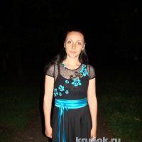 Комбинированное платье — работа Евгении Руденко
