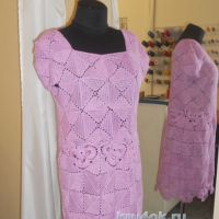 Женское платье крючком — работа Аллы