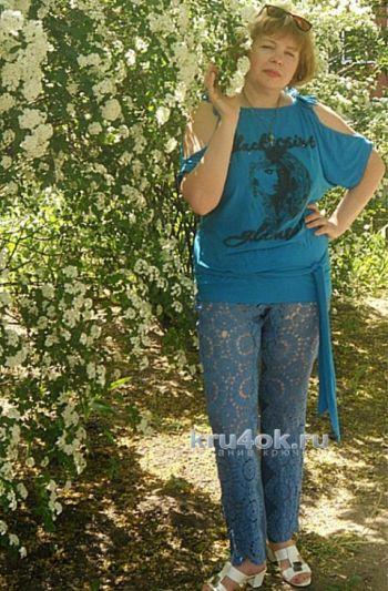 Комбинированные брюки &#8212