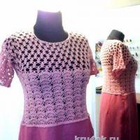 Вязаное крючком платье — работа Аллы