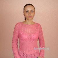 Пуловер крючком — работа Евгении Руденко