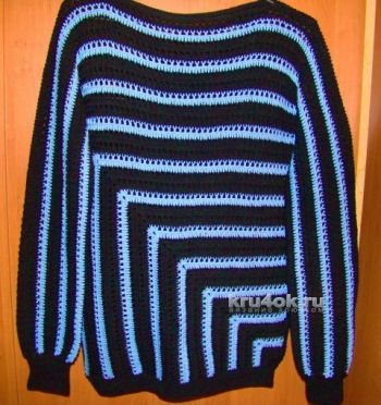 Пуловер и туника, связанные по одной схеме. Вязание крючком.