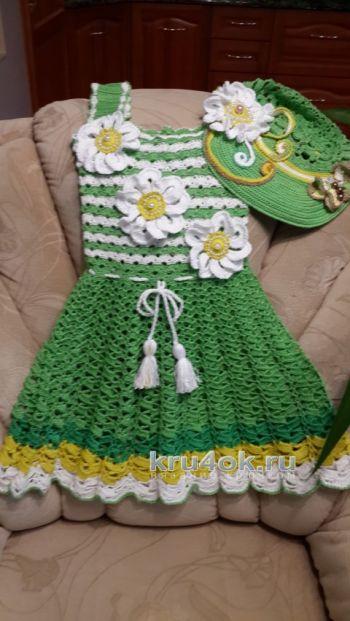 Комплект для девочки – работа Ольги. Вязание крючком.