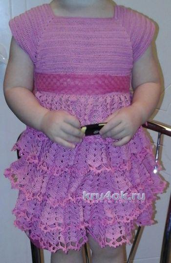 Платья для девочки – работы Марины. Вязание крючком.
