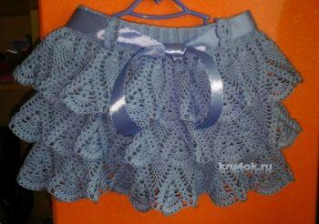 Узоры крючком для юбки детской