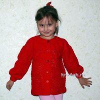 Детский жакет с кокеткой — работа Надежды Хабибуллиной