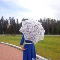 Вязаный зонт — работа Нины