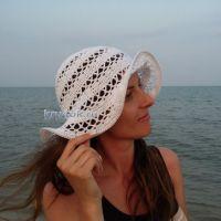 Женская шляпа крючком — работа Яны