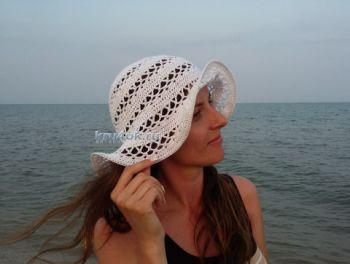 Женская шляпа крючком - работа Яны