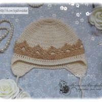 Вязаная крючком шапочка для малыша