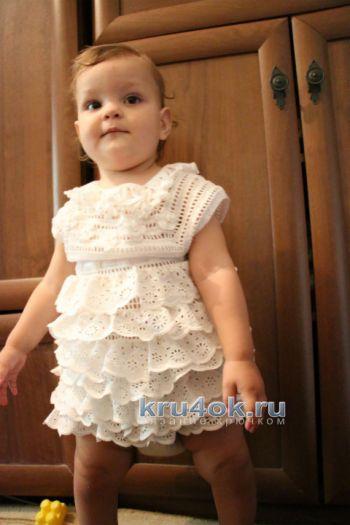 Комбинированное платье для девочки. Мастер — класс!. Вязание крючком.