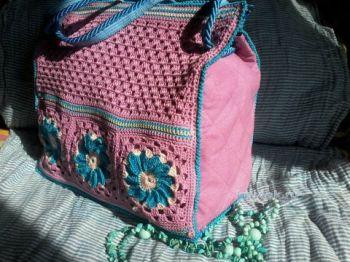 Вязаная сумка. Работа Светланы Дыкиной. Вязание крючком.
