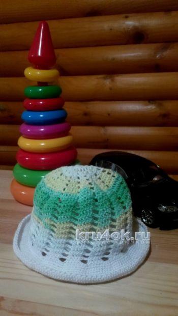 Детская шапочка крючком. Работа Натальи. Вязание крючком.