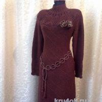 Вязаное крючком платье. Работа Натали