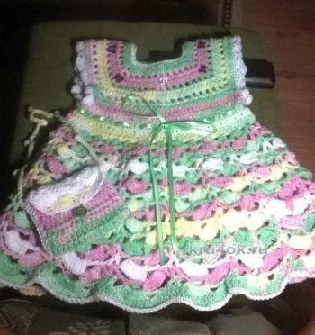 Схема вязание крючком платья для маленькой девочки
