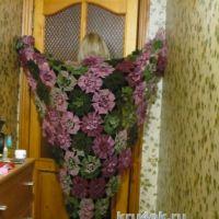 Вязаная шаль Орхидея. Работа Светланы