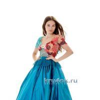 Комбинированное платье. Работа Людмилы Максютовой