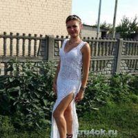 Длинное платье из мотивов. Работа Елены Ворожко