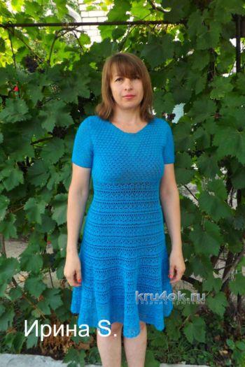 Ажурное платье Бирюза. Работа Ирины Стильник