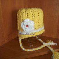 Вязаные детские шапочки. Работы Юлии