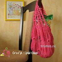 Вязаная сумка — авоська. Работа Ольги Павловой