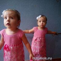 Детские платья крючком. Работы Виктории Паниной